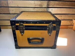 Vintage Cheney Industrial Storage Travel Case Trunk Vanity Case Tool Chest |