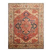 8' x 9'11'' Hand Knotted 100% Wool Herizz Traditional Oriental Area Rug Rust