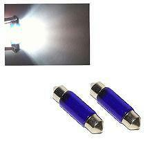 Xenon Gas Blue C5W 38mm Festoon Number Plate Upgrade Bulbs 5000k 1 x Pair