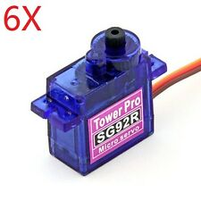 6 X TowerPro SG92R Mini Micro Servo 9g 2.5kg For RC Airplane