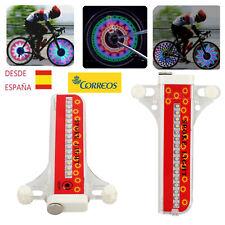2x Bicicleta Rueda Luz LED Neumático Válvula de Rueda Luces Colorido 32 Patrones
