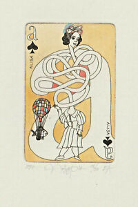 "Original Etching Playing Card ""Alisa"" by NOZDRIN YURY / Russia"