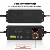 3V-36V Voltage Variable Adjustable AC/DC Power Supply Adapter With LED Display