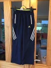 Boys Adidas Jogging Bottoms, Navy, Nice Design, Age 9-10, VGC