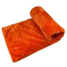 Liso ECOPIEL Visón Naranja Manta polar 150cm x 200cm