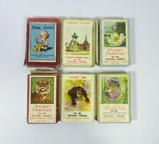 Vintage 1920-80's Playing Cards Happy Families, Animal Families, Famous Cities