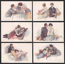 LUIGI BOMPARD - DONNINE FEMME LADY WOMAN FRAU DAME - FASHION - SERIE 6 Cartoline