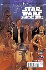 STAR WARS SHATTERED EMPIRE #1 FASE FORCE AWAKENS JOURNEY MARVEL COMIC BOOK LUKE