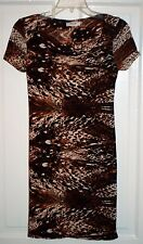 "Fifilles Paris French ""Croissant"" Brown Body Con Stretch Dress S / XS"