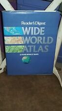 Readers Digest Wide World Atlas Gigantic huge book diagrams pictures 1984