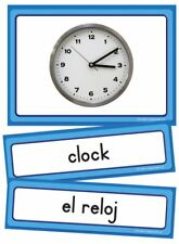 EP63189 Bilingual Spanish and English Classroom Labels with Pictures ESL Teacher