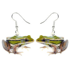 Acrylic Novelty Green Frog Earrings Dangle Drop Fashion Jewelry For Women Charms