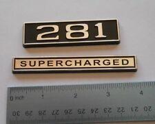 281 SUPERCHARGED black plastic with Chrome   emblem emblems badge new