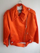 Authentic CELINE, women's bomber/biker orange jacket, size UK14, Rare!!!