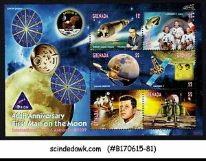 GRENADA - 2009 1st MAN ON THE MOON / ASTRONOMY / SPACE - MIN/SHT MNH