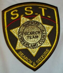 NEW Embroidered Patch CUMBERLAND COUNTY SHERIFF SEARCH & SEIZURE TEAM MAINE