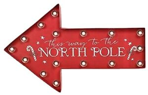 Christmas decoration North Pole Light Up Sign Festive Christmas Home Decoration