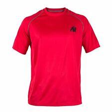 Gorilla Wear Performance T-Shirt Red/Black Rot/Schwarz Bodybuiding Fitness