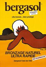 Art Bergasol Suncream Retro  Poster Print