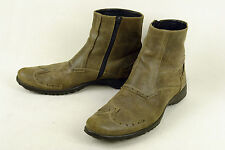 SANDRO CARRA * ITALY * FABULOUS BOOT IN A DUSKY BROWN DISTRESSED * 10 EXCELLENT