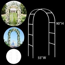 "Decorative Metal Arch For Wedding Party Event Photography - White - 55"" Wide and"