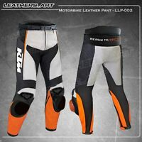 Ktm Men Motorcycle motorbike racing leather Pant  LLP002 (USA 38-48)