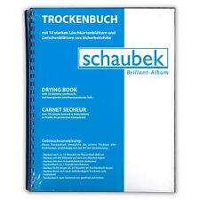 Schaubek TH4201 Drying Book A4 10 Sheets of Blotting Paper Incl. Foil Interleave