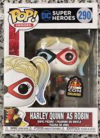 """Funko POP! DC Super Heroes """"Harley Quinn as Robin"""" #290 LA Comic Con LACC, NEW"""