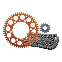 Primary Drive Alloy Kit & O-Ring Chain Orange Rear Sprocket