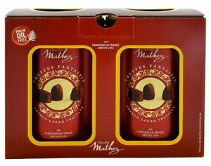 2 x 500g Mathez Cocoa Dusted French Truffles Tin  Fine Chocolate Truffles BNew