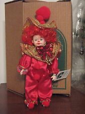 Vintage Robin Woods Holiday Clown Doll 1991, With Tag & Original Box