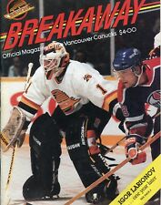 OCT. 14 1990 BREAKAWAY MAGAZINE...VANCOUVER CANUCKS vs EDMONTON OILERS
