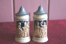 Charming Vintage Mini (Kinder) Steins: Featuring Romantic Couple: Set Of 2