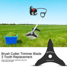 "1Pc 10""x 3T Brush Cutter Trimmer Blade 3 Tooth Strimmer Part Bush Weed Black AF"