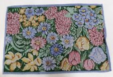 New listing Set of 4 Tapestry Table Placemats in Multi-Color - Floral Print