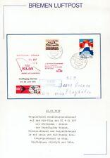 Bremer Luftpost Brief Niederlande nach Bremen ausgefallen KLM-Flug dann per Bahn