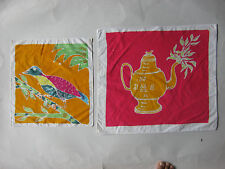 Thai batik arts cloth painted with hand craftsmanirship souvenir(2 pieces) MBT08