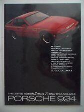 1979 Print Ad Porsche 924 Sportscar Car Automobile ~ Sebring 79 Limited Edition