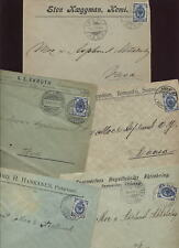 FINLAND 1904-09 20P PRINTED ADVERT 5 COVERS