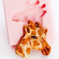 Giraffe Flexible Silicone Fondant Resin Polymer Clay Metal Clay Mold Mould (818)