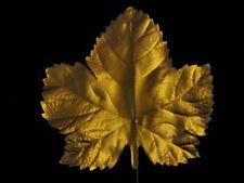 """Vintage Millinery Flower Leaf lg 4 1/2"""" Bronze Maple for Hat Wedding + Hair Ke5d"""