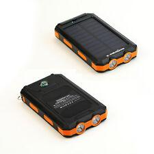 300000mAh Solar Powerbank Externe Batterie Zusatzakku Ladegerät 2USB 2LED Orange