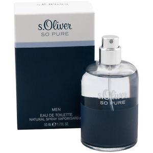 S.Oliver So Pure Eau De Toilette EDT Spray 50 ML Pour Homme