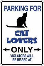 Cat Lovers Only Owners Parking Funny Novelty Stickers JDM Euro Sma SM1-45