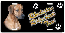 Rhodesian Ridgeback Taxi Line License Plate ( Low Clearance Price )
