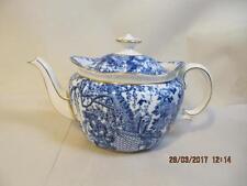 Royal Crown Derby Mikado Blue & White Teapot w lid  6.5 inch  6 cup