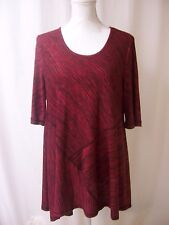 Fever Women's Red and Black Top Large NWOT