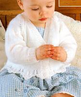 "Baby Cardigans & Bonnet 16"" - 26""  DK  Knitting Pattern"