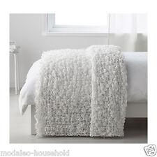 Ikea OFELIA Bedspread blanket,white 130 x170cm 80% polyester,20% acrylic UK-B786