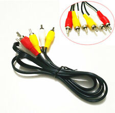 3 RCA to 3 RCA Composite Audio Video AV Cable Cord Male to Male For TV DVD Lot